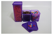 Tifany Food Storage Isi 3 Purple Purple