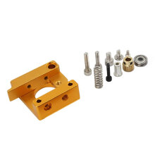 [kingstore]MK8 Extruder Aluminum Alloy Block 3D Printer Professional Left Hand DIY Kit Yellow Yellow & Silver