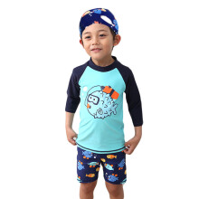 SBART 3-15Y Kids Boys Swimsuit Summer Child Swim Beach Wear Rashguard Bathing Suit (Hat+Shorts+Tops)