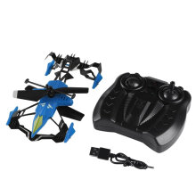[kingstore] Quadcopter Car Toys 2 in 1 Air-Ground Flying Car RC Drone Quadcopter 3D Flip Blue