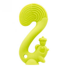 Mombella Squirrel Soothing Teether Green