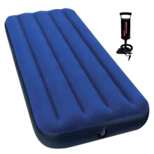 INTEX Single Size Classic Downy Airbed 68950 with Free Hand Pump