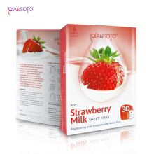 Masker Qiansoto Strawberry Milk Sheet Mask ( 6 x 35 ml)