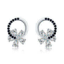 earring【Global Top Mall】Black Awn Anting perak sterling S925