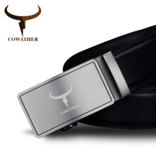 COWATHER fashion 100% cow genuine leather belts for men high quality belt automatic buckle