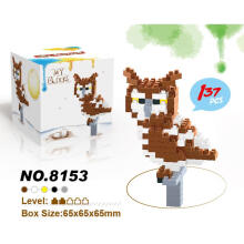 Lele Brother Bricks 8153 Owl Berwarna