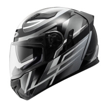 ZEUS ZS-813 AN1 - Helm Full Face - Black Silver