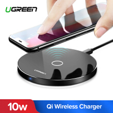 UGREEN Wireless Quick Charger for Samsung Note 8 Samsung S6, s6 Edge, S6 Edge Plus iPhone 8 iPhone 8 plus iPhone X LG V30 Handphone hp QC 2.0 Fast Charge 10W(Black)