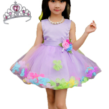 Anmode Girl Party Dress Petal Flower Dresses Kids Princess Costume Gown -