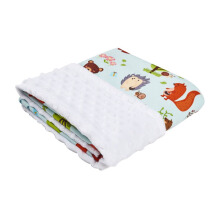 COTTONSEEDS Baby Blanket Animals Forest