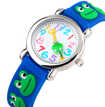 Keymao Frog Waterproof 3D Cute Cartoon Silicone Wristwatches Gift for Little Girls Boy Kids Children Blue