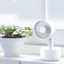 Daisies Handheld fan Portable USB Three conversion adjustable fan base White