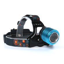 Boruit Zoom 6000Lm XM-L T6 LED Headlamp Head Light Torch 18650 AC/Car Charger 3 Modi Lampe 2 Akkus Ladegeräte