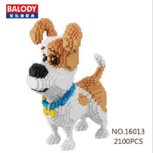 Balody Bricks 16013 Dog White Blue