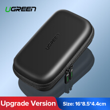 UGREEN Shockproof EVA Hard Drive Case, Portable Protective Bag for 2.5 inch HDD SSD of 500g, 1TB, 2TB Hard Drive Digital Storage Bag SMALL SIZE