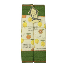 ARNOLD CARDEN Refrigerator Handle Cover Fruits Lemon 1 Pair - Green 15x30cm
