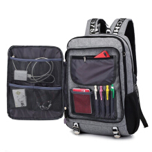 YOOHUI men youth fashion backpack school usb charge waterproof travel bags male