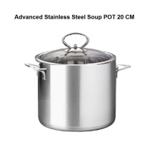 Panci Advanced Stainless Steel Soup Pot 20 CM - Stainless steel tebal+ Tutup Kaca