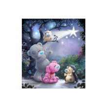 [COZIME] DIY 5D Diamond Bear Shining Drill Painting Embroidery Cross Stitch Decor Craft multicolor