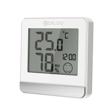 Digoo DG-BC20 Bathroom LCD Digital Thermometer  Display IP45 Waterproof Hygrometer White