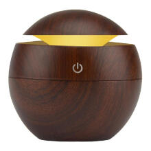 TYLT USB Aroma Humidifier ESSential Oil Diffuser Ultrasonic Cool Mist Humidifier Air Purifier 7 Color Change LED Night light for Office Home:Dark Wood