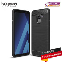 Keymao Samsung Galaxy A8+ 2018 case Soft TPU Silicon Full Protect Cover Case Black