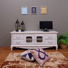 THE OLIVE HOUSE - Meja TV Cabinet Queen Anne (FREE ONGKIR JAWA & BALI)