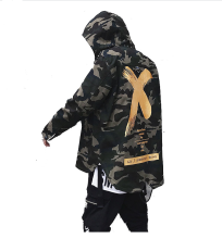 ESG X Coat Camo Jacket Red Yellow Headwear Hoody Windbreakers Hip Hop Jackets Coat For Men Women Yellow XXL