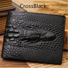 klemoo 2018 Crocodile skin wallet men genuine leather small zipper short men wallets credit card holders coin pocket purse alligator