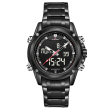 NAVIFORCE 9050 Luxury Brand Men Sports Army Military Watches Men's Quartz Analog LED Clock Male Waterproof Watch Black