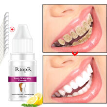 Farfi 10ml Teeth Whitening Essence Plaque Stains Removing Deep Cleansing Oral Hygiene as the pictures