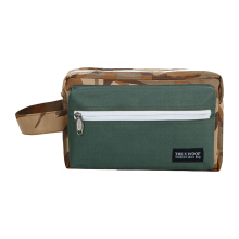The X Woof Pouch Dopp Kit Water Repellent Resistant Travel Kit. Ypouch 1.0 Army Brown Green Brown