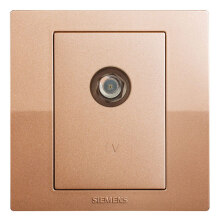 SIEMENS 5UH80353NC03 switch socket Yue move broadband TV socket champagne gold