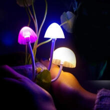 Farfi Mushroom LED Avatar Night light Bed Saving Sensor Light Lamp as the pictures