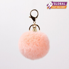Belle and Bloom Faux Fur King Ring Pom Pom Blush POM003BLSH Nude