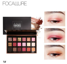 Focallure brand direct sales 18 color waterproof flying powder eye shadow tray