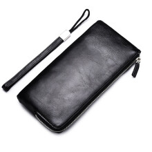 DEABOLAR Simple and stylish Long zipper phone bag men's wallet