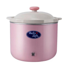 Baby Safe Slow Cooker with Light Indicator 0.8L - Pink