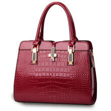 SiYing European and American patent leather crocodile pattern ladies shoulder bag