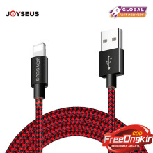 JOYSEUS Lighting to USB Cable 2.4A Nylon 200CM Charging 8pin USB Cord for iPhone X 8 7 Plus 6 5 S for iPad mini Phone Cable