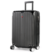 CROSSGEAR 28 inch Travel Luggage Rolling Suitcase TSA Lock ABS Material High End (must checked baggage) CR-1303LL BLACK