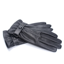 SiYing Fashion Leather Gloves Thicken Warm Touchable Men's Riding Gloves