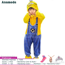 Anamode Size 100~140 Kids Cartoon Clothes Parent-Child Homewear Siamese Pajamas Suit -Minion