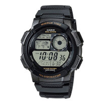 Casio AE-1000W-1AVDF - 10 Year Battery - Water Resistance 100M Black Resin Band [AE-1000W-1AVDF]