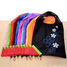 [COZIME] 10PCS/SET Nylon Strawberry Shape Foldable Shopping Bags Grocery Carry Bag Others