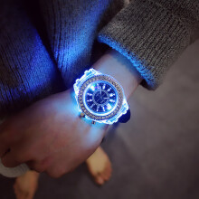 PEKY Silicone LED Luminous Fashion Ladies Outdoor Watch Women's Men colorful Sports  Watch