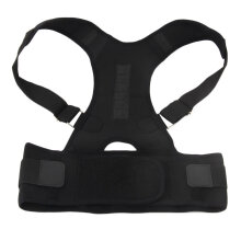 [COZIME] New Adjustable Magnet Posture Corrector Male Corset Back Straightener Belt Black1  M Black1 M