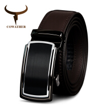 COWATHER Top Cow Genuine Leather Men Belts High Quality Men Automatic Buckle