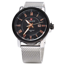 NAVIFORCE Men Watch Luxury Brand Analog Date Stainless Steel Strap Quartz Watches Military Men's Watches