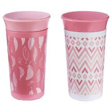 THE FIRST YEARS Simply Spoutless 9oz Cup 2Pk - Asoortment Pink - White